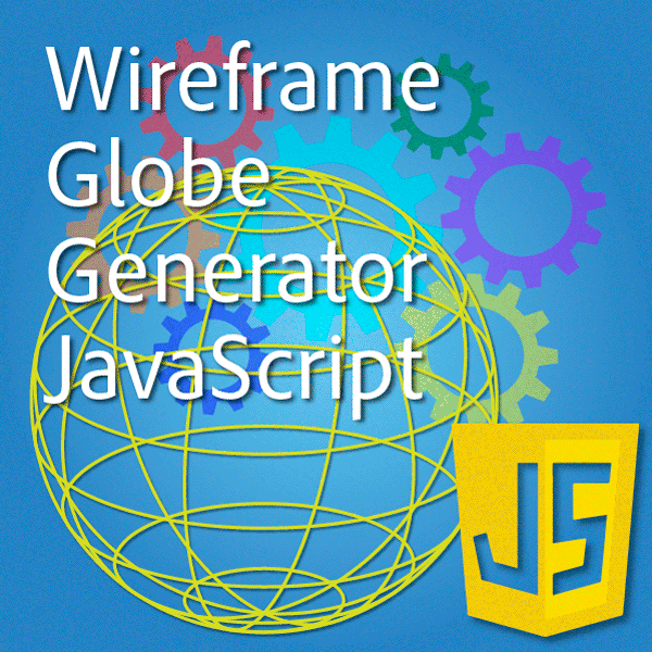 Illustrator javascript wireframe globe icon 2019