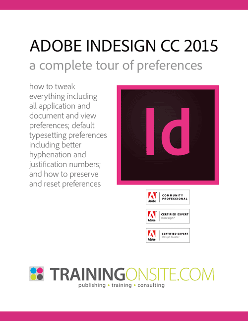InDesign CC 2015 complete tour of preferences