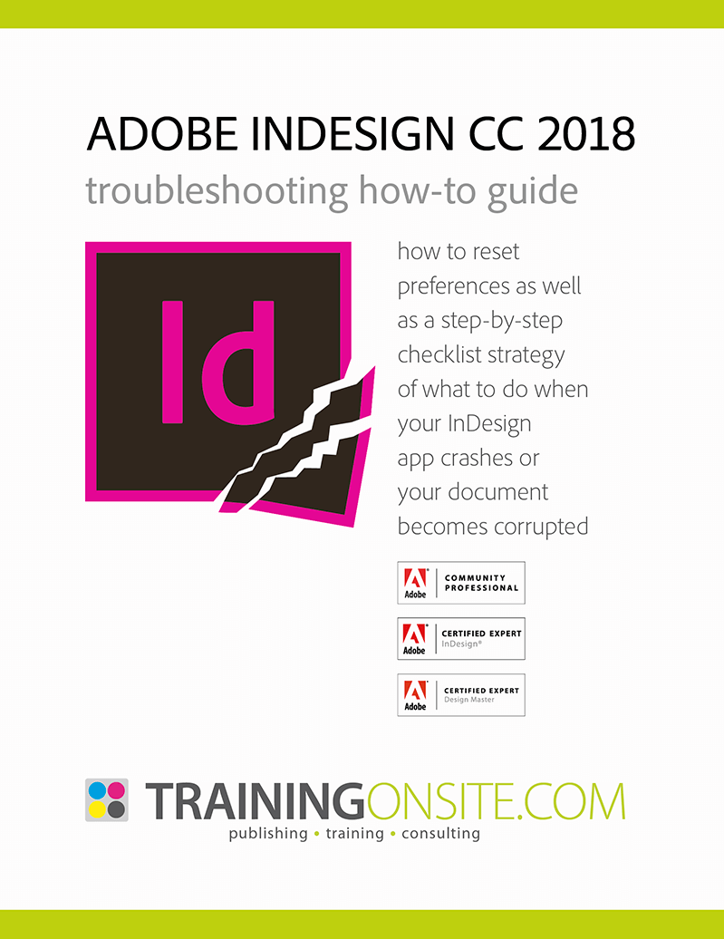 InDesign CC 2018 troubleshooting