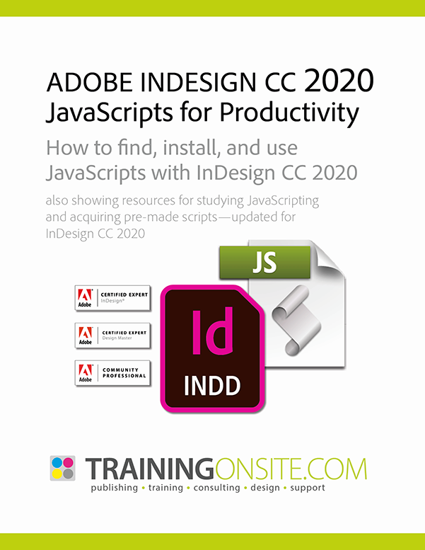 InDesign 2020 JetSet JavaScripts