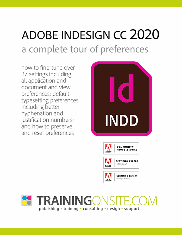InDesign 2020 tour preferences