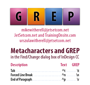 InDesign CC GREP and Metacharacters for smartphones
