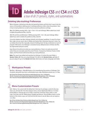 InDesign CS3 complete tour of presets